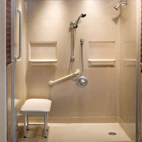 Accessible walk in tubs and roll in showers atlanta home for How to build a wheelchair accessible shower